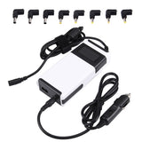 Laptop Notebook Power LCD Display 90W Universal Charger with Car Charger & AC Power Adapter & 8 Power Adapters & 1 USB Port for Samsung Sony Acer IBM HP Lenovo(White)