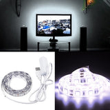 50cm 3W Epoxy IP65 Waterproof 30 LED 5050 SMD USB Rope Light with 1m Extended Switch Cable Wide: 10mm(White Light)