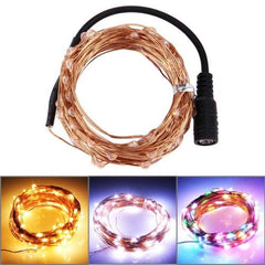 3 x 10m 1800LM Life Waterproof LED Copper Wire String Lights Festival Light with Remote Controller AC 100-240V US Plug (Warm White Light / White Light / Colorful Light)