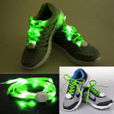 1 Pair 1.1m CR2032 Button Batteries Powered LED Shoelace Lamp / Decoration Light Strip(Green)