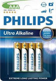 Philips Extreme Power 4 x AAA Size / LR03 Ultra Alkaline batteries