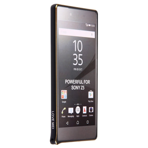 LOVE MEI for Sony Xperia Z5  Hippocampal Buckle Metal Aluminum Bumper Frame(Black)