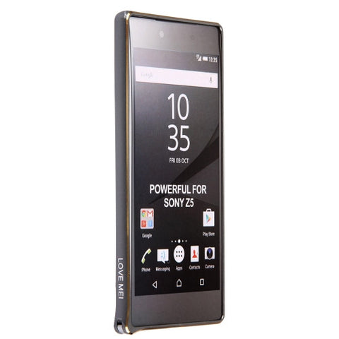 LOVE MEI for Sony Xperia Z5  Hippocampal Buckle Metal Aluminum Bumper Frame(Grey)