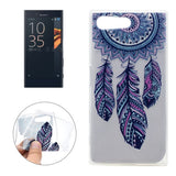 For Sony Xperia X Compact Windmill Pattern Soft TPU Protective Back Cover Case