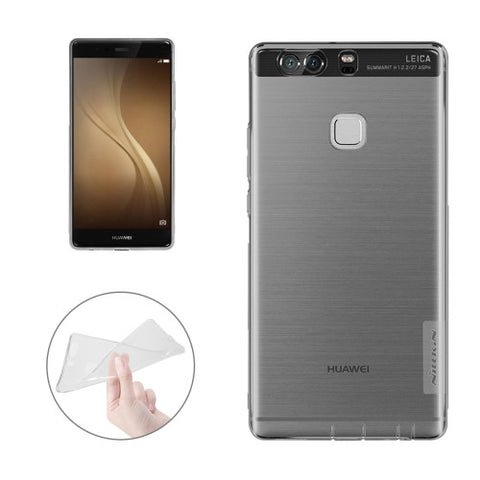 NILLKIN Nature TPU Case Huawei P9 Stylish 0.6mm Ultrathin Clear Color Soft Protective Case Back Cover(Grey)
