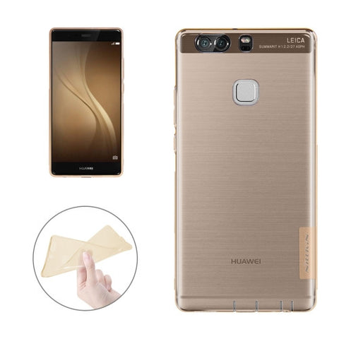 NILLKIN Nature TPU Case Huawei P9 Stylish 0.6mm Ultrathin Clear Color Soft Protective Case Back Cover(Brown)