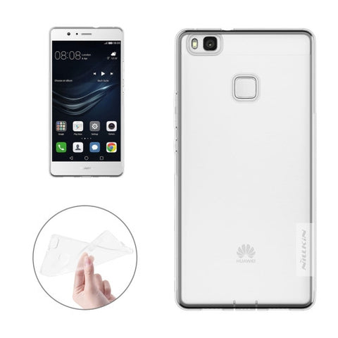 NILLKIN Nature TPU Case Huawei P9 Lite Stylish 0.6mm Ultrathin Clear Color Soft Protective Case Back Cover(White)