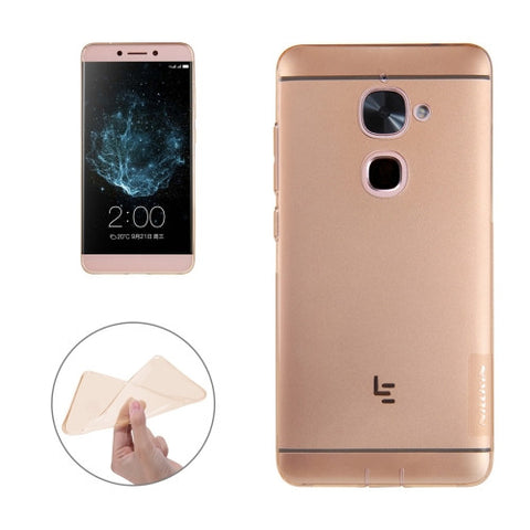 NILLKIN Nature TPU Case Letv Le 2 & Le 2 Pro Stylish 0.6mm Ultrathin Clear Color Soft Protective Case Back Cover(Brown)
