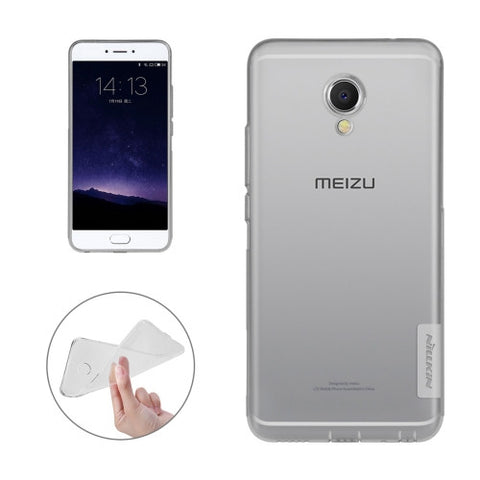 NILLKIN Nature TPU Case Meizu MX6 Stylish 0.6mm Ultrathin Clear Color Soft Protective Case Back Cover(Grey)