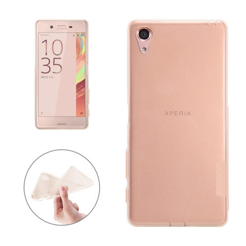 NILLKIN Nature TPU Case for Sony Xperia X Stylish 0.6mm Ultrathin Clear Color Soft Protective Case Back Cover(Brown)