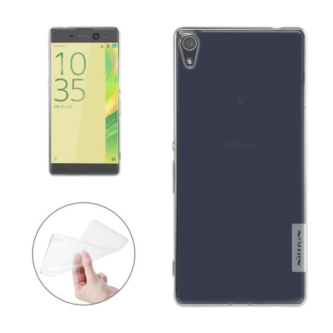 NILLKIN Nature TPU Case for Sony Xperia XA Ultra Stylish 0.6mm Ultrathin Clear Color Soft Protective Case Back Cover(White)