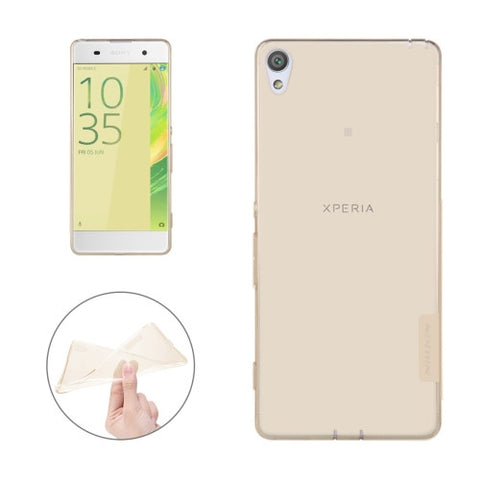 NILLKIN Nature TPU Case for Sony Xperia XA Stylish 0.6mm Ultrathin Clear Color Soft Protective Case Back Cover(Brown)