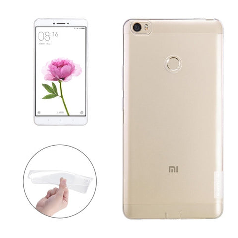 NILLKIN Nature TPU Case Xiaomi Mi Max Stylish 0.6mm Ultrathin Clear Color Soft Protective Case Back Cover(White)