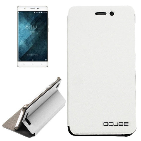 OCUBE Blackview A8 (MPH1001) Litchi Texture Horizontal Flip Leather Case with Holder(White)