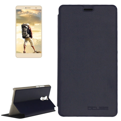 OCUBE BLUBOO Maya Max (MPH1857) Spring Texture Horizontal Flip Leather Case with Holder(Dark Blue)