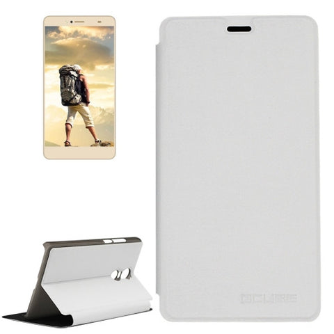 OCUBE BLUBOO Maya Max (MPH1857) Spring Texture Horizontal Flip Leather Case with Holder(White)
