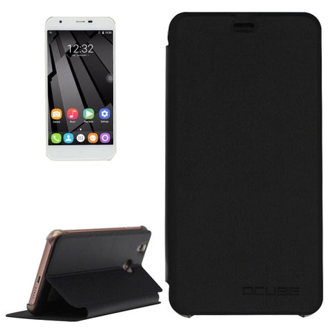 OCUBE OUKITEL U7 Plus (MPH0134) & U7 Pro Spring Texture Horizontal Flip Leather Case with Holder(Black)