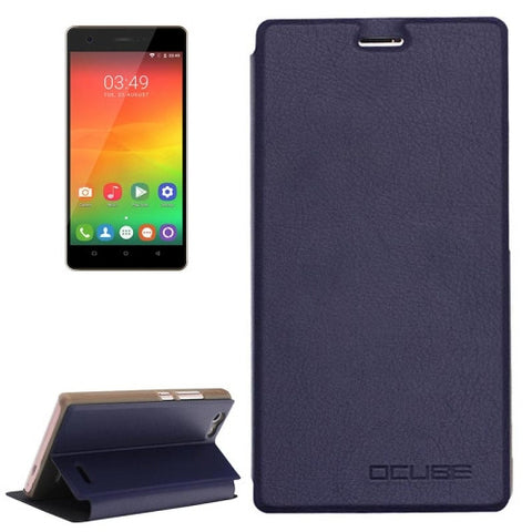 OCUBE OUKITEL C4 (MPH1448) Spring Texture Horizontal Flip Leather Case with Holder(Dark Blue)