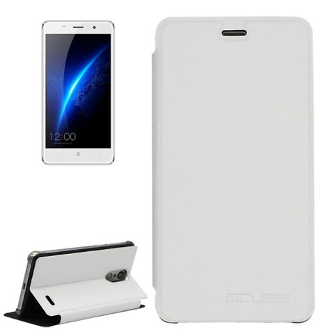 OCUBE LEAGOO M5 (MPH4100) Spring Texture Horizontal Flip Leather Case with Holder(White)