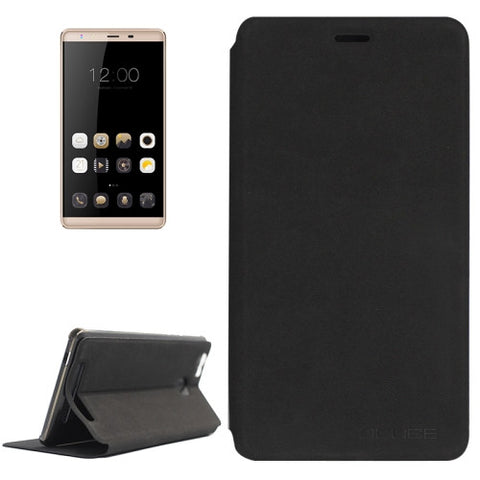 OCUBE LEAGOO Shark 1 (MPH0234) Lambskin Texture Horizontal Flip Leather Case with Holder(Black)