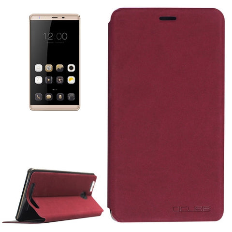 OCUBE LEAGOO Shark 1 (MPH0234) Lambskin Texture Horizontal Flip Leather Case with Holder(Wind Red)