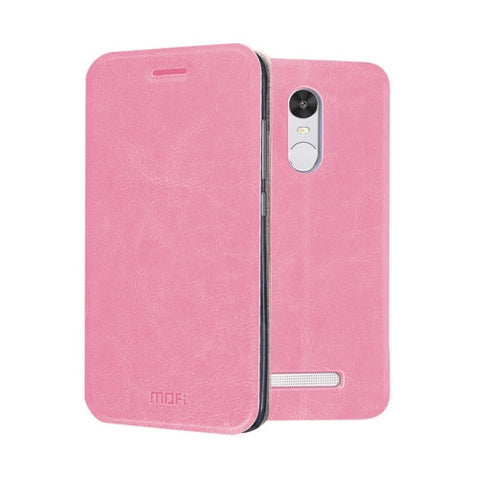 MOFI Xiaomi Redmi Note 3 Crazy Horse Texture Horizontal Flip Leather Case with Holder(Pink)