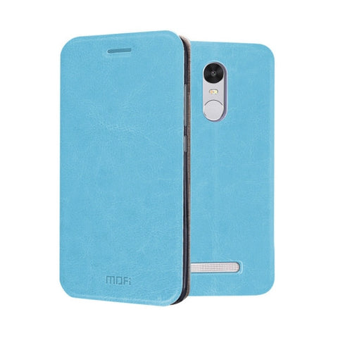 MOFI Xiaomi Redmi Note 3 Crazy Horse Texture Horizontal Flip Leather Case with Holder(Baby Blue)