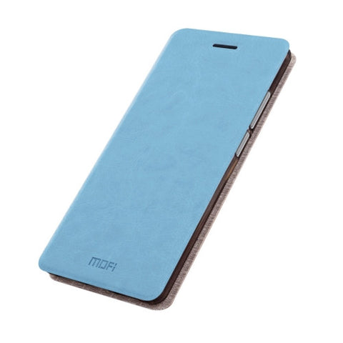 MOFI Huawei nova Crazy Horse Texture Horizontal Flip Leather Case with Holder(Blue)