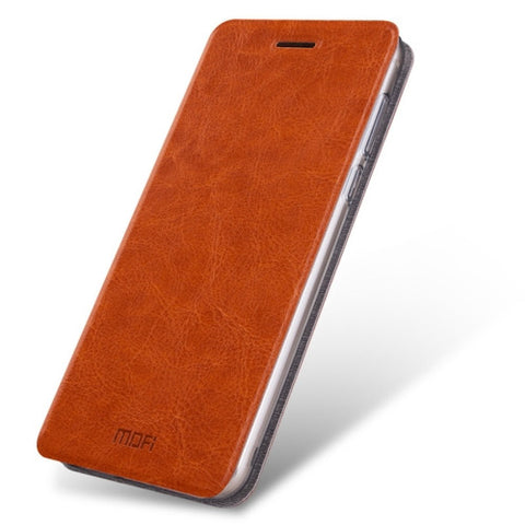 MOFI Letv Le Pro 3 Crazy Horse Texture Horizontal Flip Leather Case with Holder(Brown)