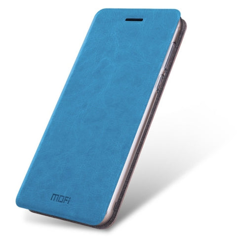 MOFI Xiaomi Mi 5s Crazy Horse Texture Horizontal Flip Leather Case with Holder(Blue)
