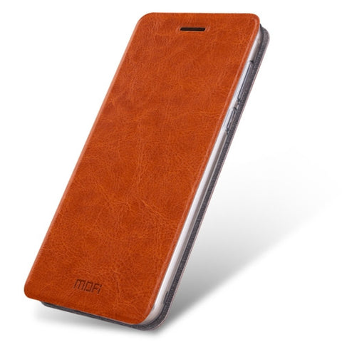 MOFI Xiaomi Mi 5s Crazy Horse Texture Horizontal Flip Leather Case with Holder(Brown)