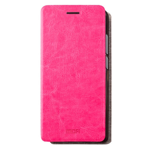MOFI Huawei Mate 9 Crazy Horse Texture Horizontal Flip Leather Case with Holder (Magenta)