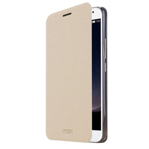 MOFI Meizu PRO5 Crazy Horse Texture Horizontal Flip Leather Case with Holder(Gold)