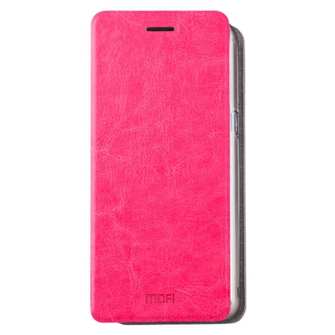 MOFI for Samsung Galaxy C9 Pro / C900 Crazy Horse Texture Horizontal Flip Leather Case with Holder(Magenta)