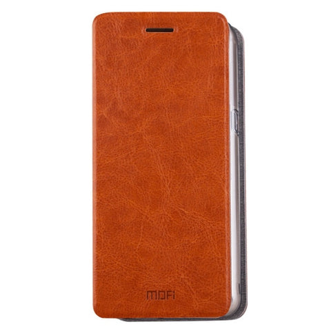MOFI for Samsung Galaxy C9 Pro / C900 Crazy Horse Texture Horizontal Flip Leather Case with Holder(Brown)