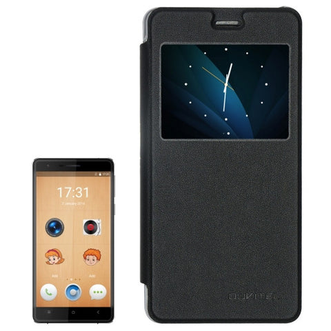 OUKITEL K4000 Lite (MPH0658) Horizontal Flip Leather Case with Call Display ID(Black)