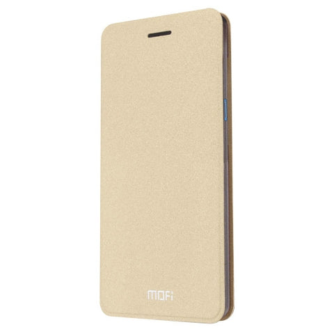 MOFI ZTE Blade A1 Crazy Horse Texture Horizontal Flip Leather Case with Holder(Gold)