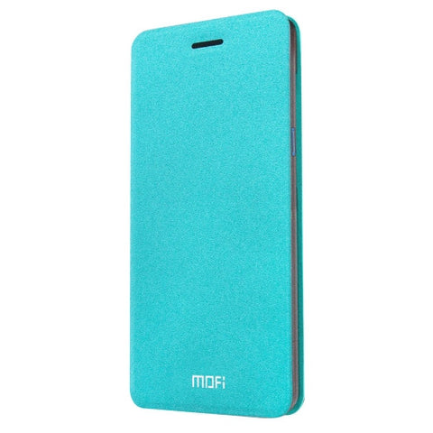 MOFI ZTE Blade A1 Crazy Horse Texture Horizontal Flip Leather Case with Holder(Blue)