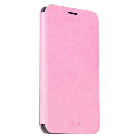 MOFI OPPO R9 Plus Crazy Horse Texture Horizontal Flip Leather Case with Holder(Pink)