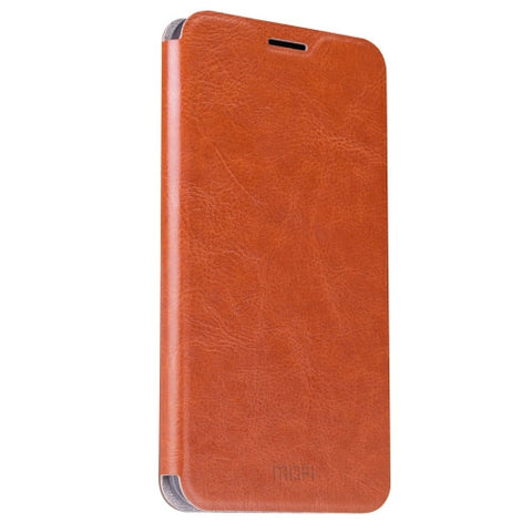 MOFI OPPO R9 Plus Crazy Horse Texture Horizontal Flip Leather Case with Holder(Brown)