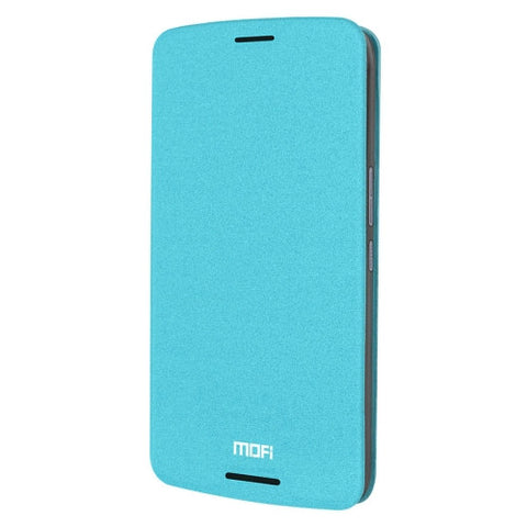 MOFI For HTC One X9 Crazy Horse Texture Horizontal Flip Leather Case with Holder(Blue)