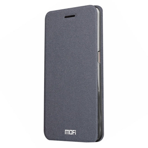 MOFI Smartisan T2 Crazy Horse Texture Horizontal Flip Leather Case with Holder(Grey)