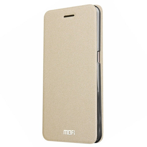 MOFI Smartisan T2 Crazy Horse Texture Horizontal Flip Leather Case with Holder(Gold)
