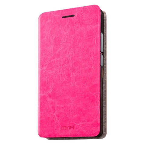 MOFI 360 QiKU Q5 Crazy Horse Texture Horizontal Flip Leather Case with Holder(Magenta)