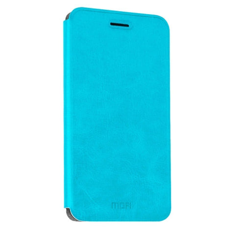 MOFI Xiaomi Redmi Note 4 Crazy Horse Texture Horizontal Flip Leather Case with Holder(Blue)