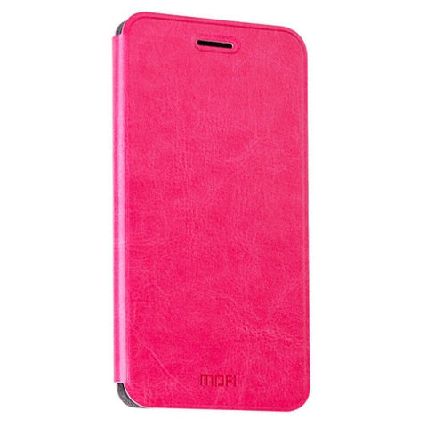 MOFI Xiaomi Redmi Note 4 Crazy Horse Texture Horizontal Flip Leather Case with Holder(Magenta)