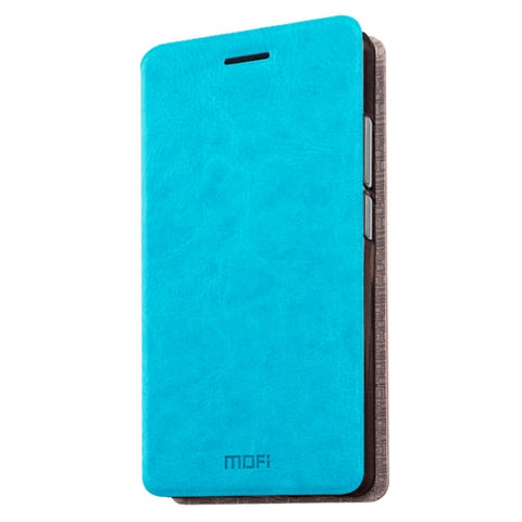 MOFI 360 QiKU Q5 Plus Crazy Horse Texture Horizontal Flip Leather Case with Holder(Blue)