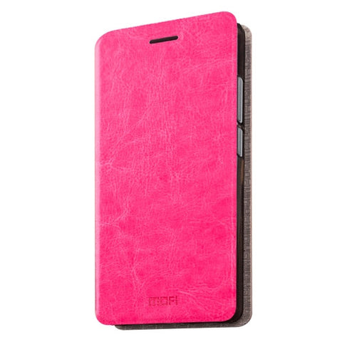 MOFI 360 QiKU N4A Crazy Horse Texture Horizontal Flip Leather Case with Holder(Magenta)