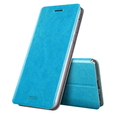 MOFI Xiaomi Mi 5s Plus Crazy Horse Texture Horizontal Flip Leather Case with Holder(Blue)