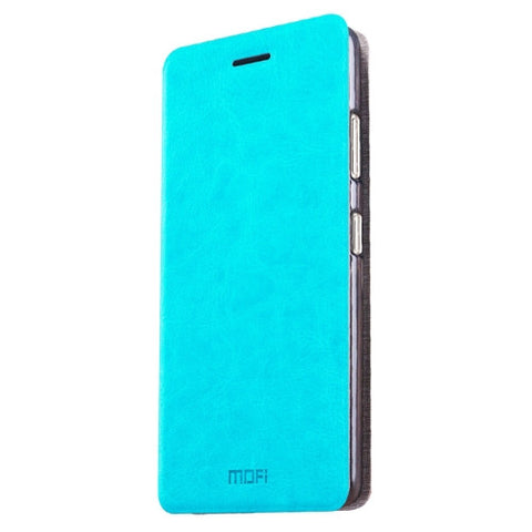 MOFI ZTE Nubia Z11 Max Crazy Horse Texture Horizontal Flip Leather Case with Holder(Blue)